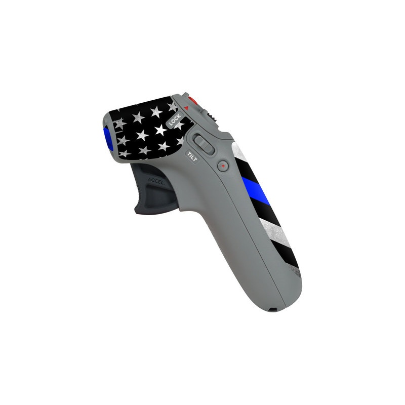 DJI Motion Controller Skin design of Flag of the united states, Flag, Cobalt blue, Pattern, Line, Black-and-white, Design, Monochrome, Electric blue, Parallel with black, white, gray, blue colors