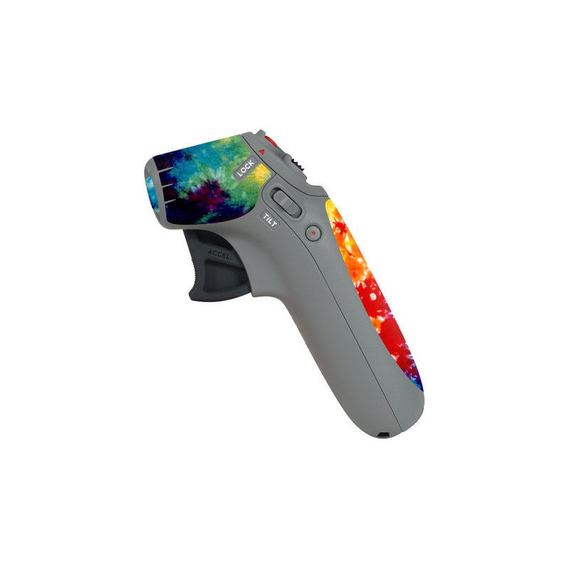 DJI Motion Controller Skin design of Orange, Watercolor paint, Sky, Dye, Acrylic paint, Colorfulness, Geological phenomenon, Art, Painting, Organism with red, orange, blue, green, yellow, purple colors