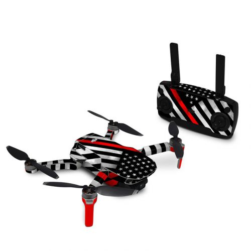 Thin Red Line Hero DJI Mavic Mini Skin