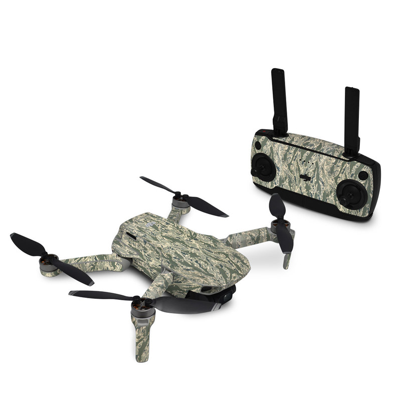 DJI Mavic Mini Skin design of Pattern, Grass, Plant with gray, green colors
