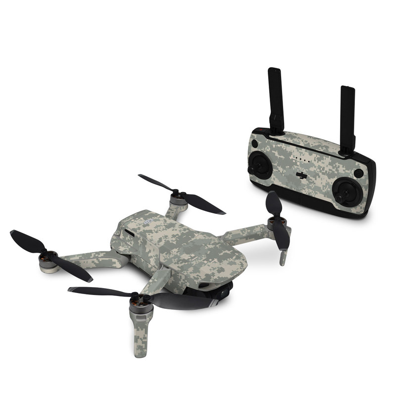 DJI Mavic Mini Skin design of Military camouflage, Green, Pattern, Uniform, Camouflage, Design, Wallpaper with gray, green colors