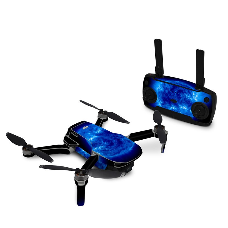 DJI Mavic Mini Skin design of Blue, Astronomical object, Outer space, Atmosphere, Electric blue, Earth, Planet, Water, Space, Universe with blue, black colors