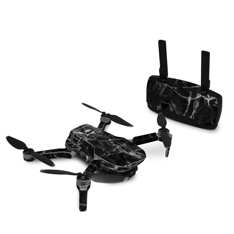 DJI Mavic Mini Skin design of Black, White, Nature, Black-and-white, Monochrome photography, Branch, Atmosphere, Atmospheric phenomenon, Tree, Sky with black, white colors