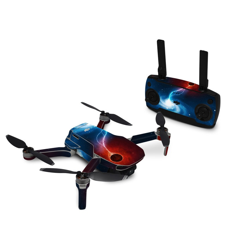 DJI Mavic Mini Skin design of Outer space, Atmosphere, Astronomical object, Universe, Space, Sky, Planet, Astronomy, Celestial event, Galaxy with blue, red, black colors