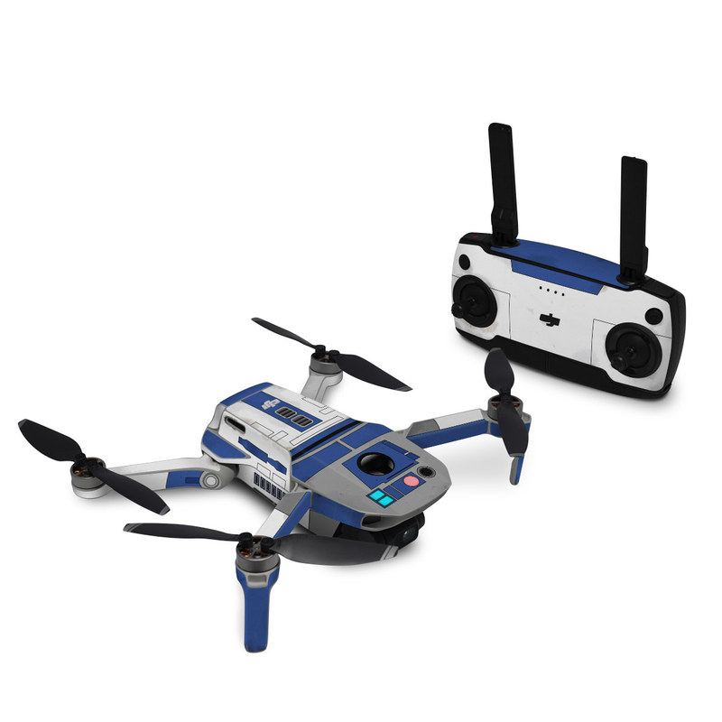DJI Mavic Mini Skin design with blue, gray, green, red colors