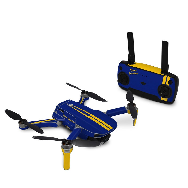 DJI Mavic Mini Skin design with blue, yellow colors