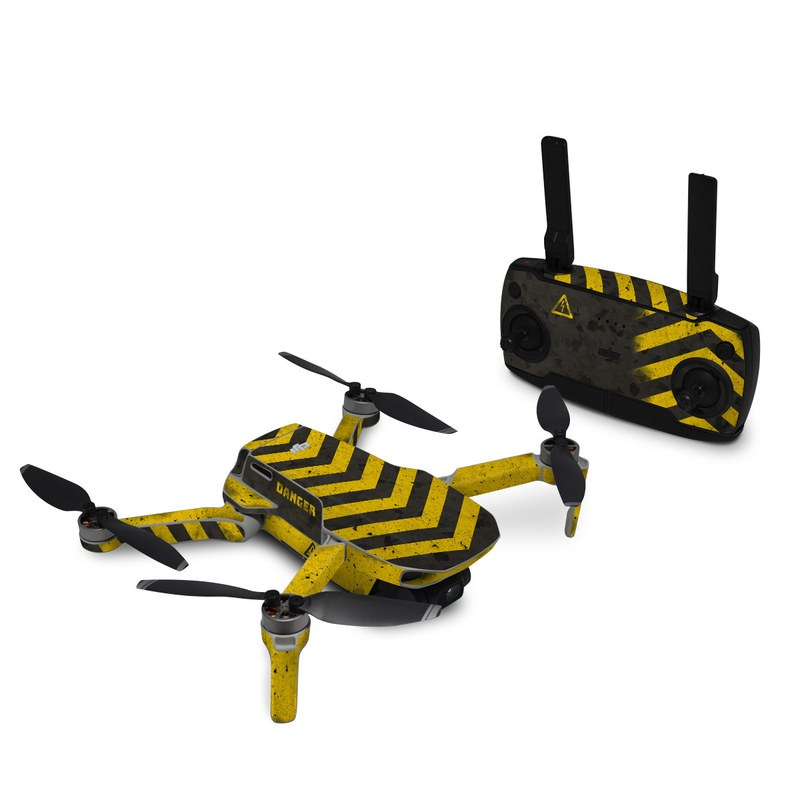 DJI Mavic Mini Skin design of Colorfulness, Road surface, Yellow, Rectangle, Asphalt, Font, Material property, Parallel, Tar, Tints and shades with black, gray, yellow colors