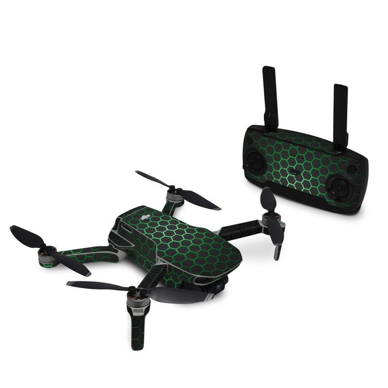 DJI Mavic Mini Skin design with black, gray, green colors