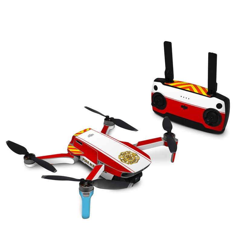 DJI Mavic Mini Skin design with white, yellow, orange, red colors