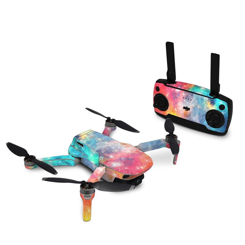 DJI Mavic Mini Skin design of Nebula, Sky, Astronomical object, Outer space, Atmosphere, Universe, Space, Galaxy, Celestial event, Star with white, black, red, orange, yellow, blue colors