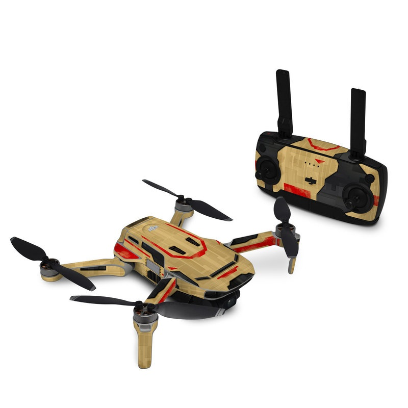 DJI Mavic Mini Skin design with brown, red colors