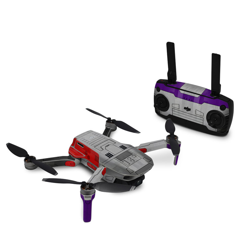 DJI Mavic Mini Skin design with gray, purple, red, black colors