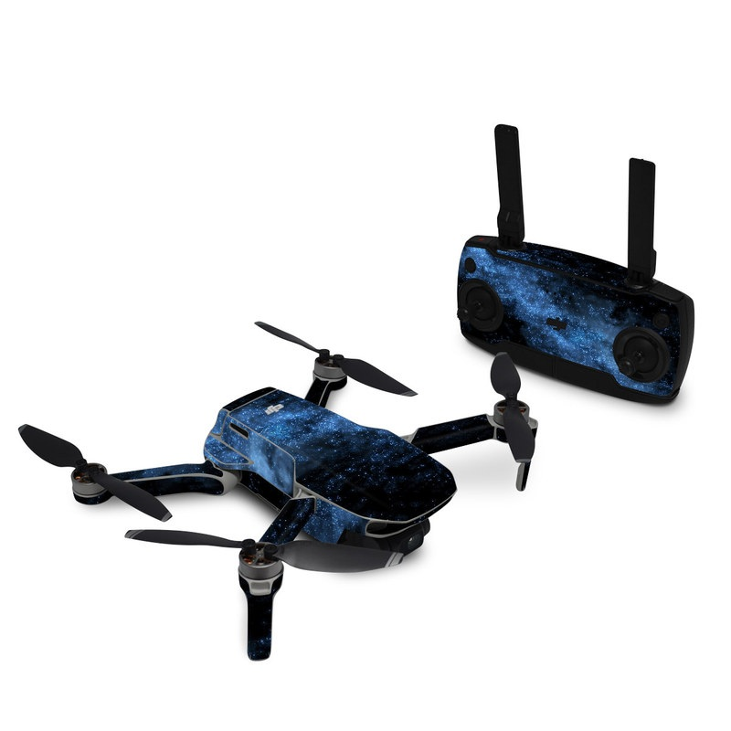 DJI Mavic Mini Skin design of Sky, Atmosphere, Black, Blue, Outer space, Atmospheric phenomenon, Astronomical object, Darkness, Universe, Space with black, blue colors