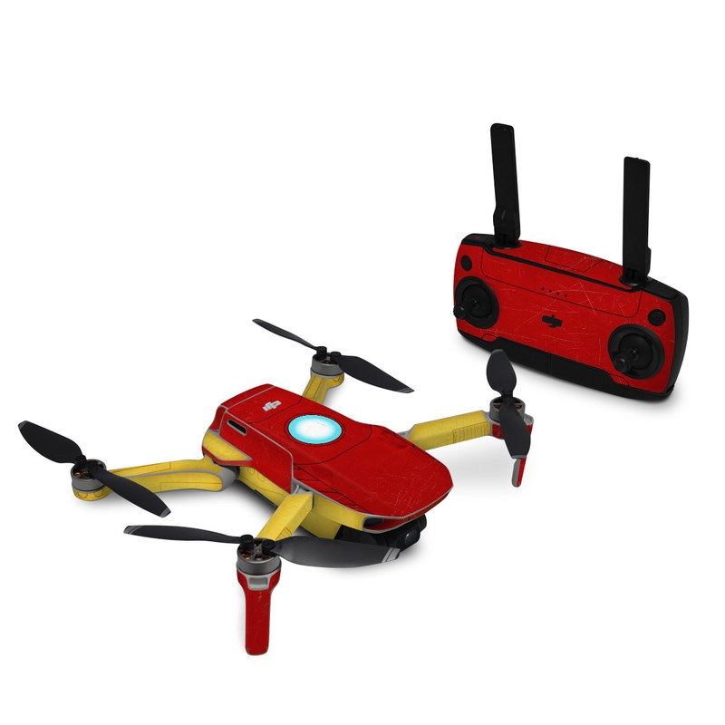 DJI Mavic Mini Skin design with red, yellow, white colors