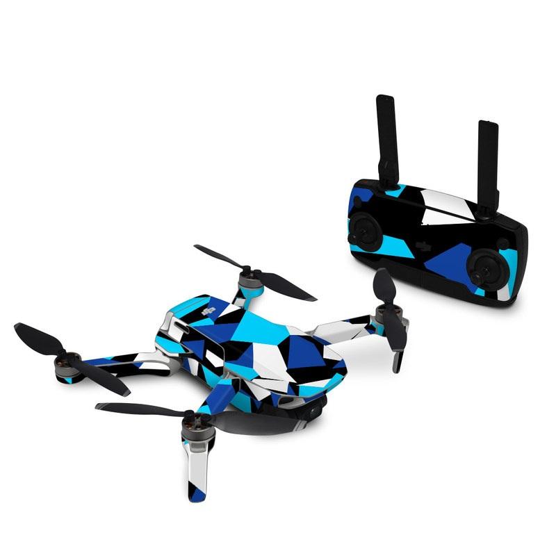 DJI Mavic Mini Skin design with blue, white, black colors