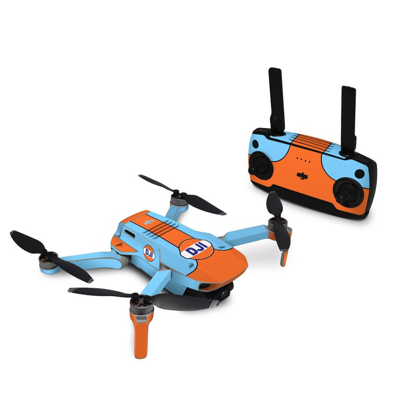 DJI Mavic Mini Skin design with blue, orange colors