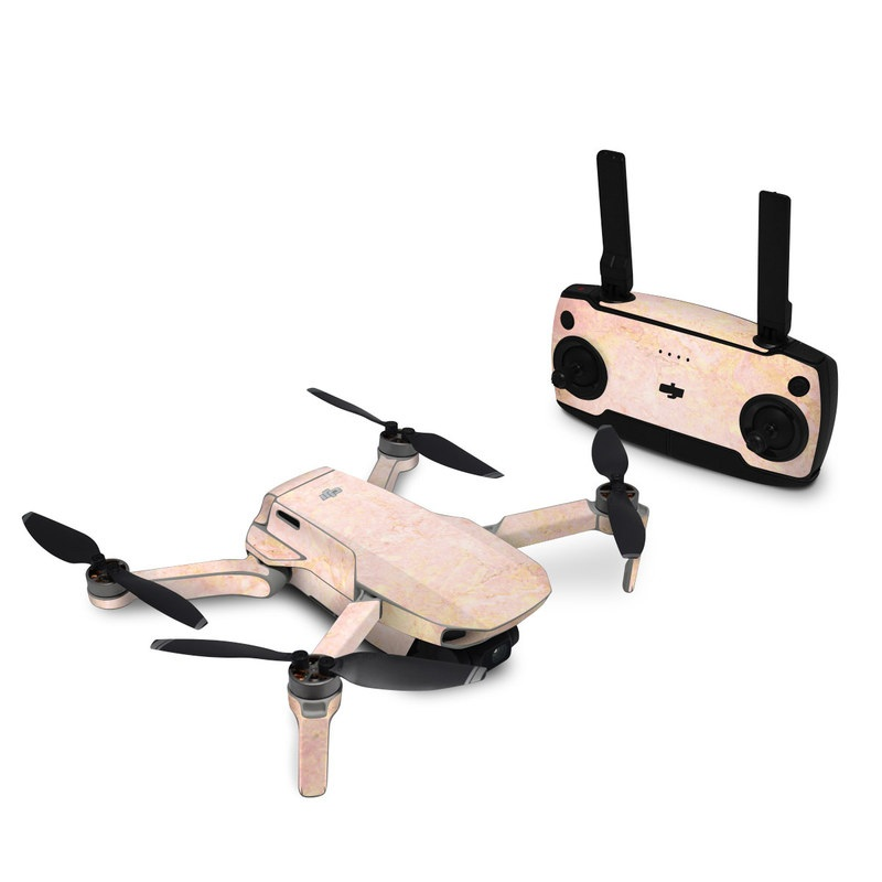 DJI Mavic Mini Skin design of Pink, Peach, Wallpaper, Pattern with pink, yellow, orange colors