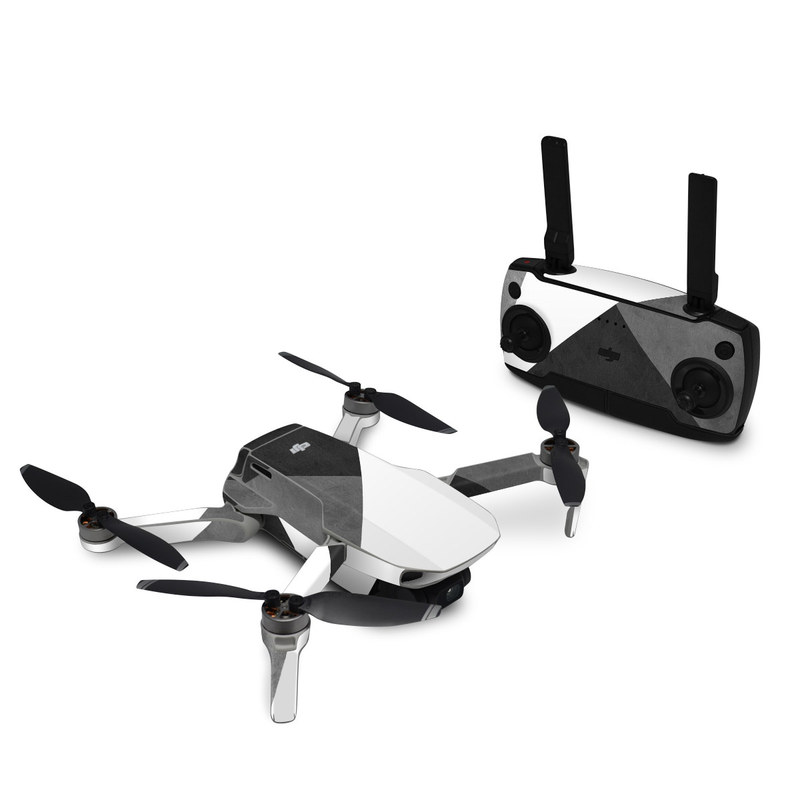 DJI Mavic Mini Skin design of Black, White, Black-and-white, Line, Grey, Architecture, Monochrome, Triangle, Monochrome photography, Pattern with white, black, gray colors