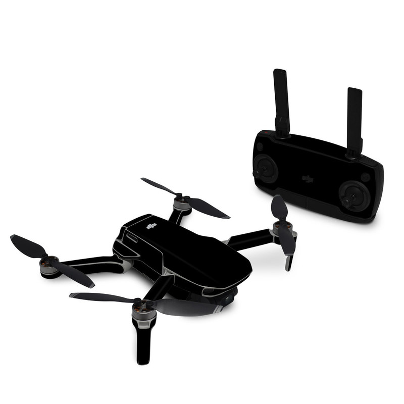 DJI Mavic Mini Skin design of Black, Darkness, White, Sky, Light, Red, Text, Brown, Font, Atmosphere with black colors
