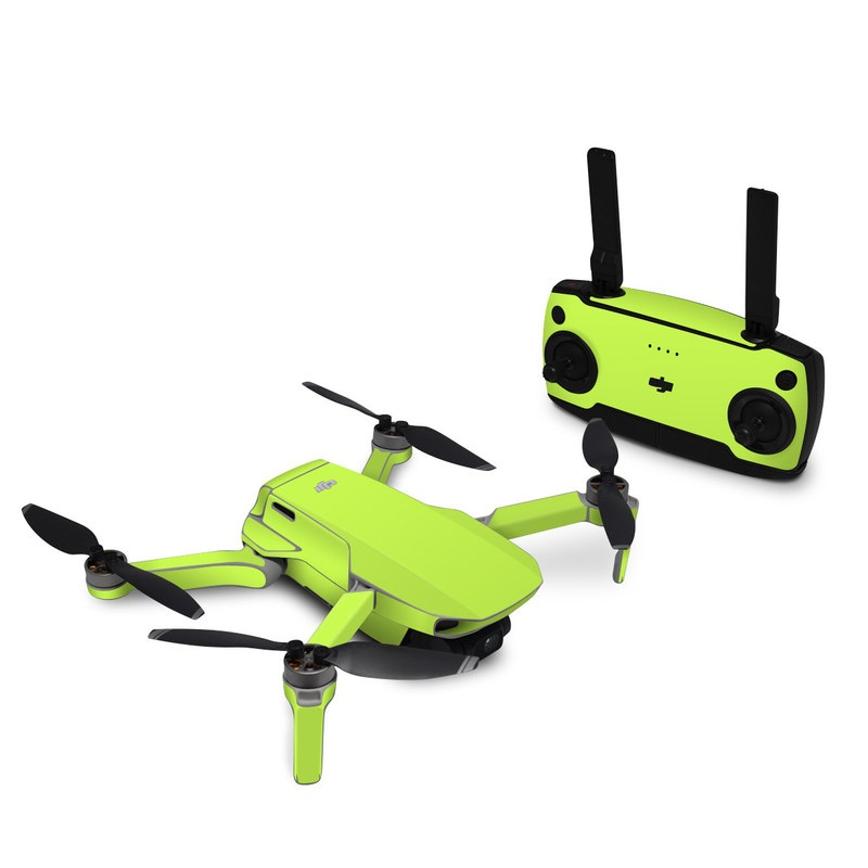 DJI Mavic Mini Skin design of Green, Yellow, Text, Leaf, Font, Grass with green colors