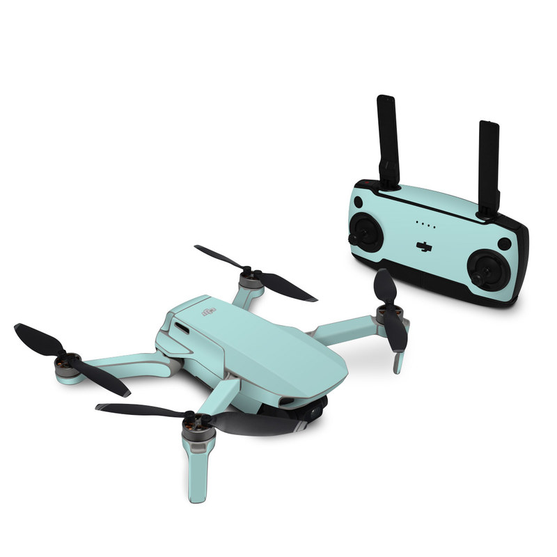 DJI Mavic Mini Skin design of Green, Blue, Aqua, Turquoise, Teal, Azure, Text, Daytime, Yellow, Sky with blue colors
