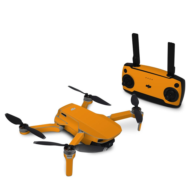 DJI Mavic Mini Skin design of Orange, Yellow, Brown, Text, Amber, Font, Peach with orange colors