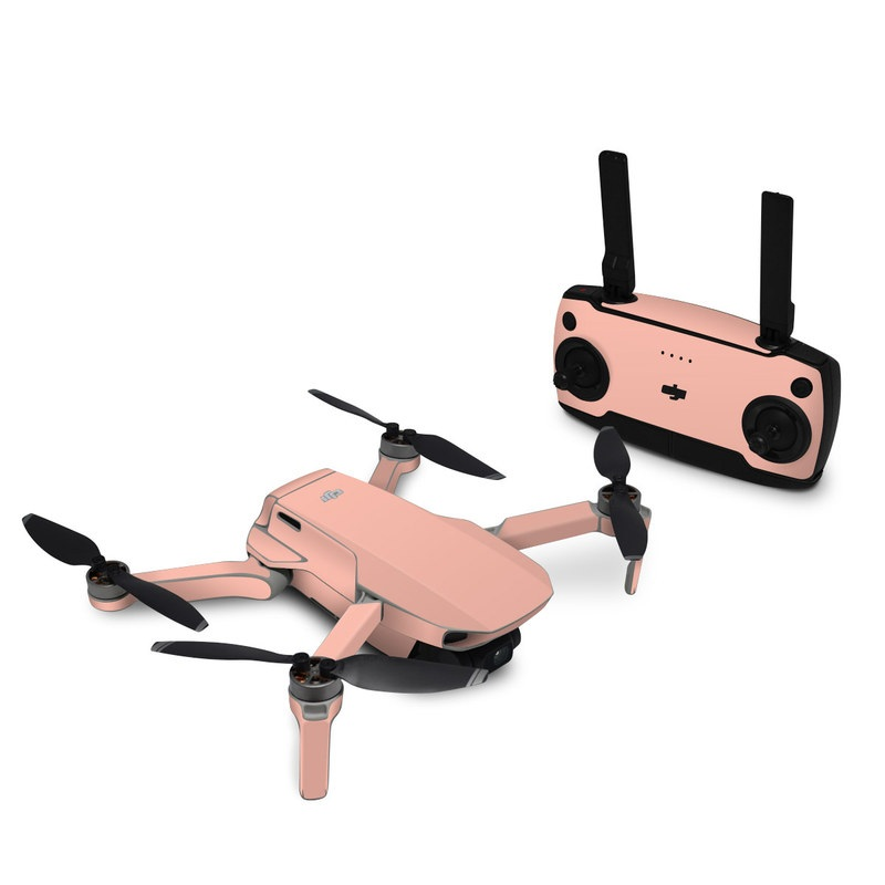 DJI Mavic Mini Skin design of Orange, Pink, Peach, Brown, Red, Yellow, Material property, Font, Beige with pink colors