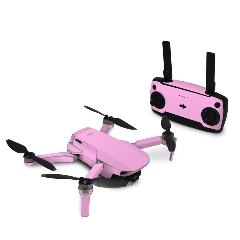 DJI Mavic Mini Skin design of Pink, Violet, Purple, Red, Magenta, Lilac, Sky, Material property, Peach with pink colors