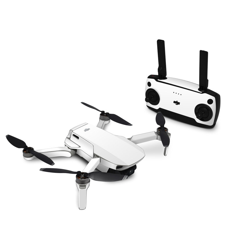 DJI Mavic Mini Skin design of White, Black, Line with white colors