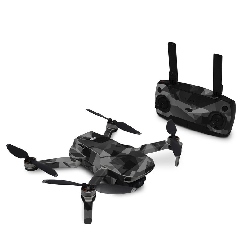 DJI Mavic Mini Skin design with black, gray colors