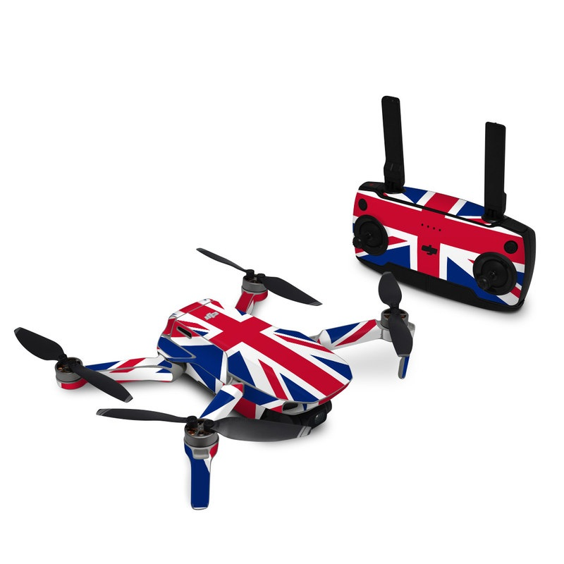 DJI Mavic Mini Skin design of Flag, Red, Line, Electric blue, Design, Font, Pattern, Parallel, Flag Day (USA) with red, white, blue colors