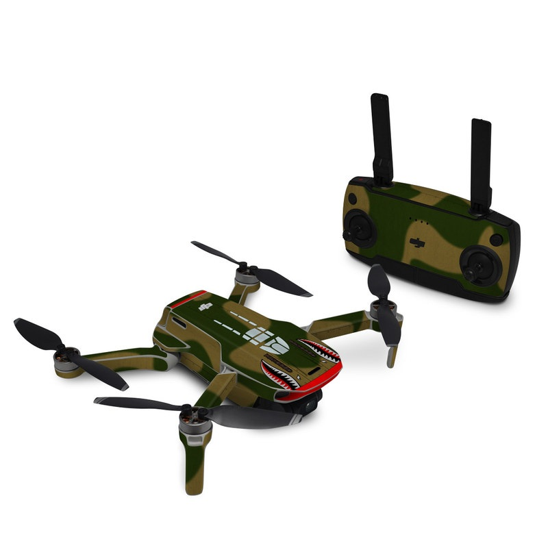 DJI Mavic Mini Skin design with green, red, white, black colors