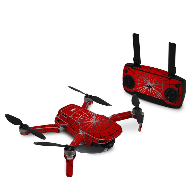 DJI Mavic Mini Skin design of Red, Symmetry, Circle, Pattern, Line with red, black, gray colors