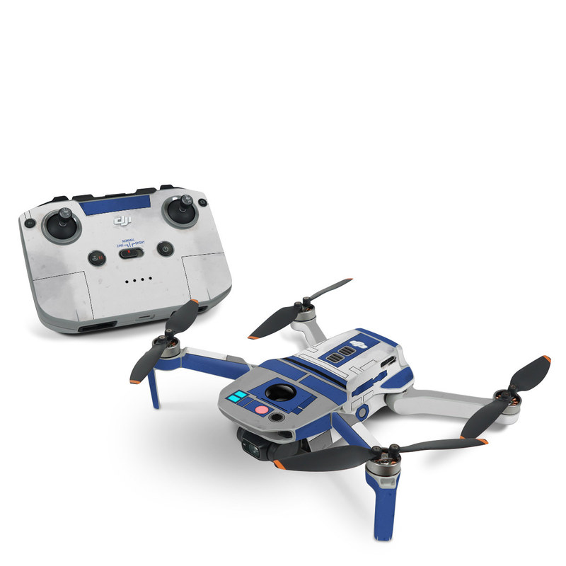 DJI Mini 2 Skin design with blue, gray, green, red colors