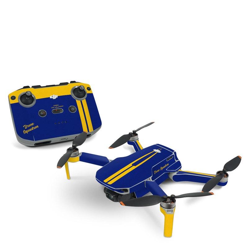 DJI Mavic Mini 2 Skin design with blue, yellow colors