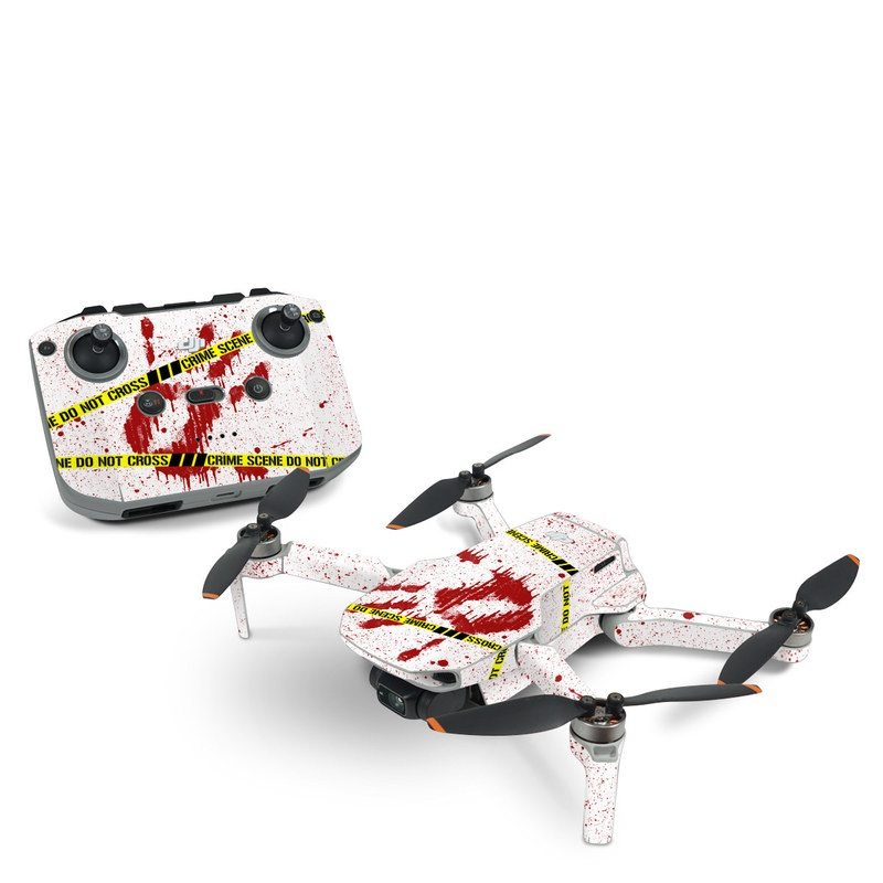 DJI Mavic Mini 2 Skin design of Text, Font, Red, Graphic design, Logo, Graphics, Brand, Banner with white, red, yellow, black colors