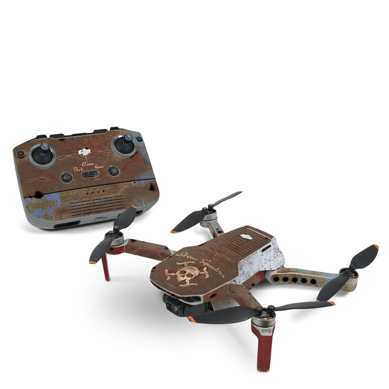 DJI Mavic Mini 2 Skin design of Line, Visual arts, Symmetry, Concrete, Tints and shades, Painting, Art with blue, red, yellow, brown, black colors