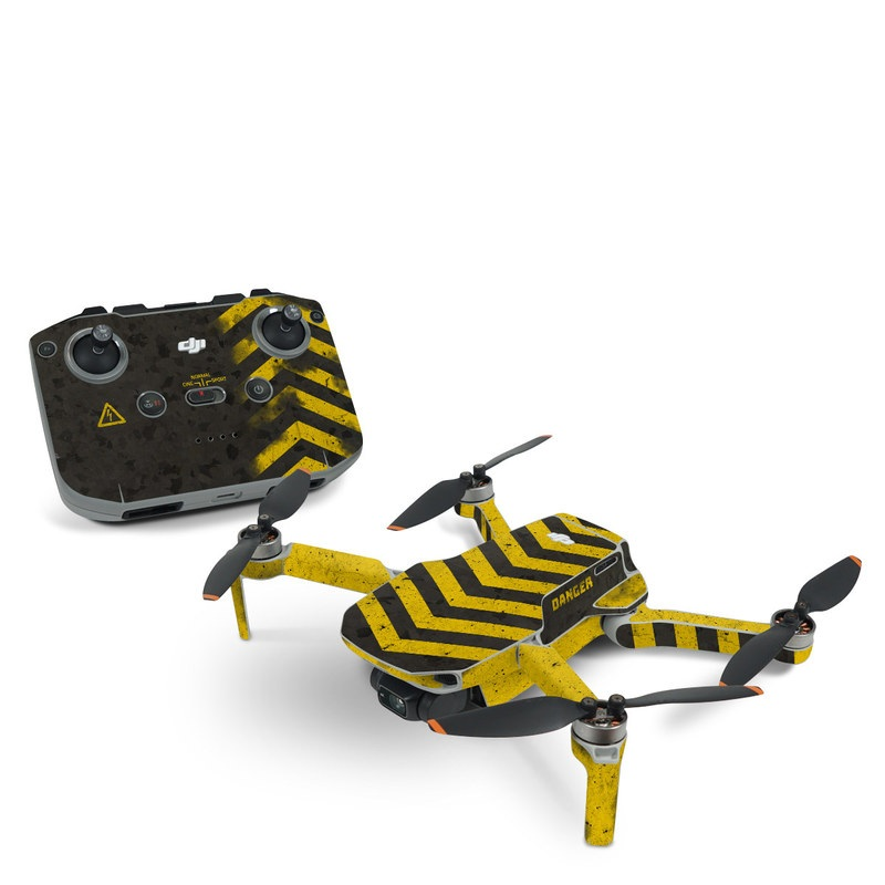 DJI Mavic Mini 2 Skin design of Colorfulness, Road surface, Yellow, Rectangle, Asphalt, Font, Material property, Parallel, Tar, Tints and shades with black, gray, yellow colors
