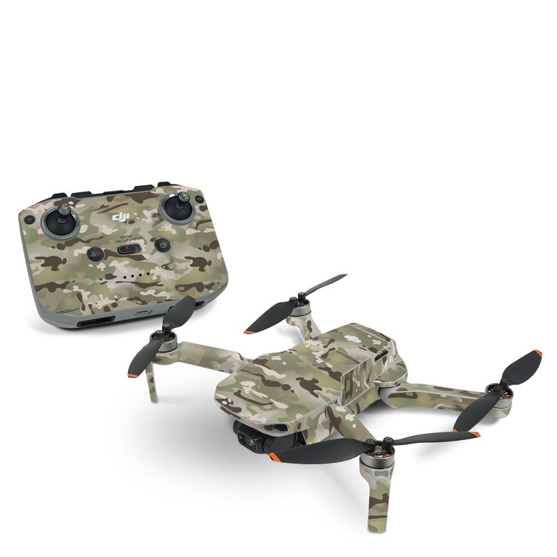 DJI Mavic Mini 2 Skin design of Military camouflage, Camouflage, Pattern, Clothing, Uniform, Design, Military uniform, Bed sheet with gray, green, black, red colors