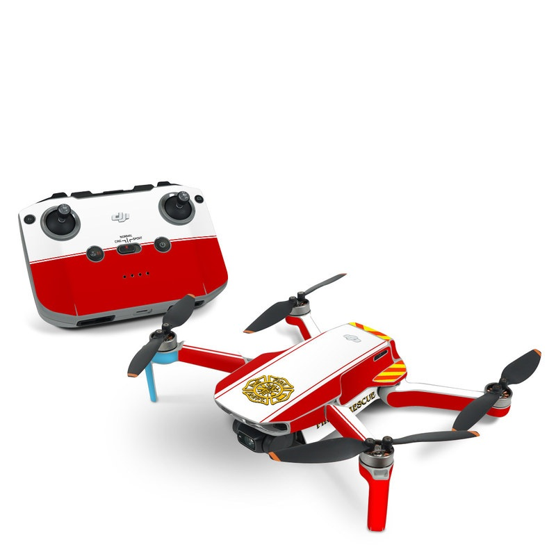 DJI Mini 2 Skin design of Military rank, Flag with white, red, yellow colors