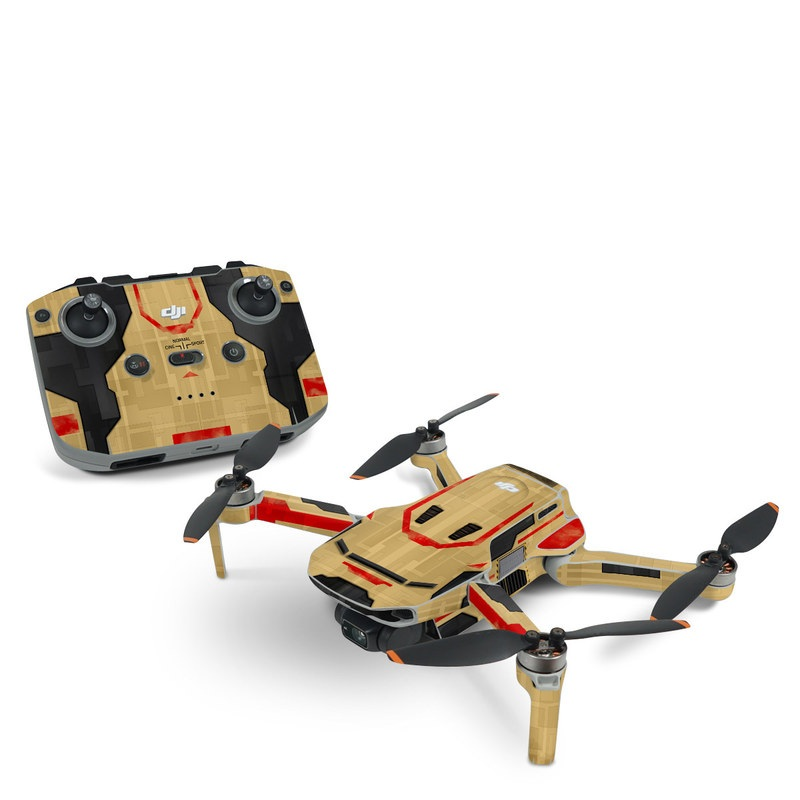 DJI Mavic Mini 2 Skin design with brown, red colors