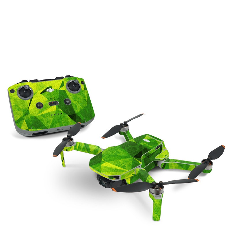 DJI Mini 2 Skin design of Green, Pattern, Leaf, Design, Illustration with green colors