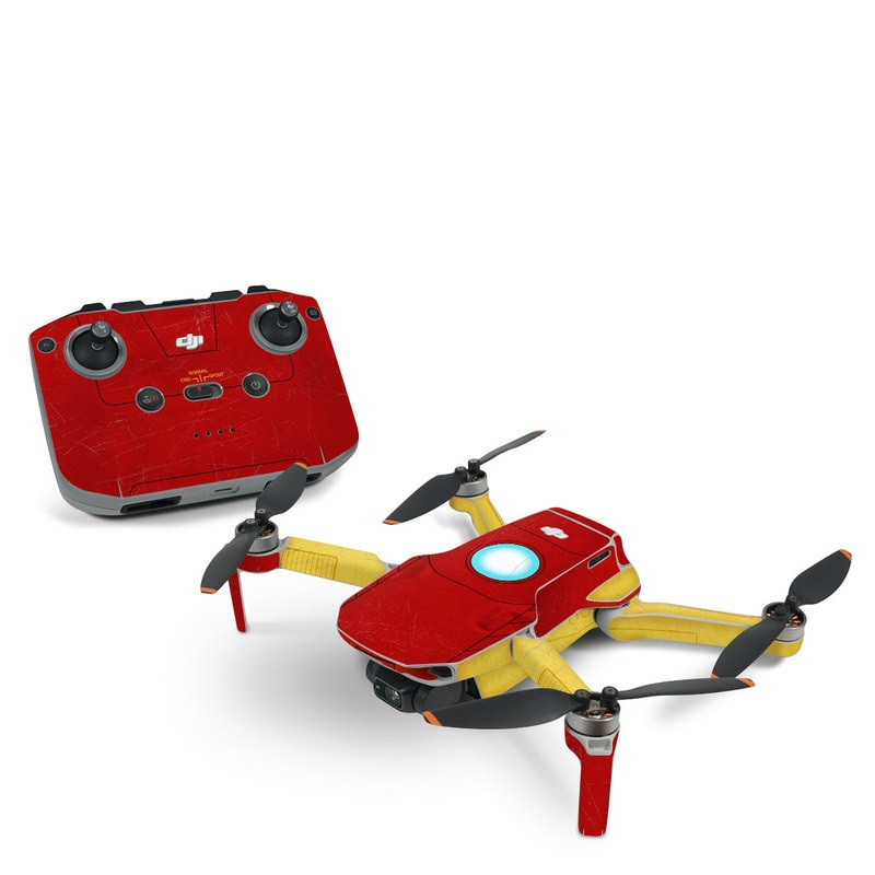 DJI Mavic Mini 2 Skin design with red, yellow, white colors