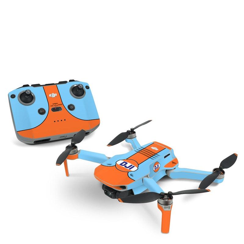 DJI Mini 2 Skin design of Line with blue, orange, black colors