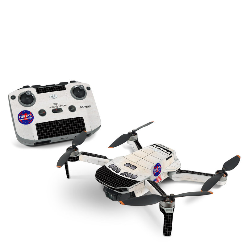 DJI Mini 2 Skin design with black, white, red, blue, brown colors
