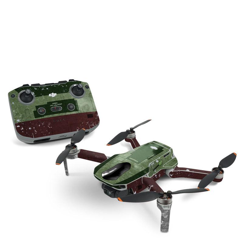 DJI Mavic Mini 2 Skin design with red, green, gray colors