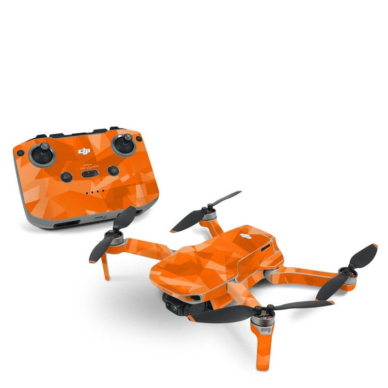 DJI Mavic Mini 2 Skin design of Orange, Pattern, Peach, Line, Design, Triangle with orange colors