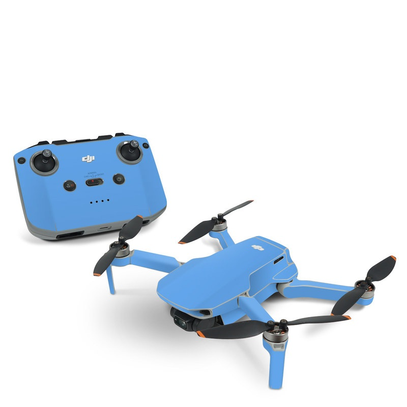 DJI Mavic Mini 2 Skin design of Sky, Blue, Daytime, Aqua, Cobalt blue, Atmosphere, Azure, Turquoise, Electric blue, Calm with blue colors