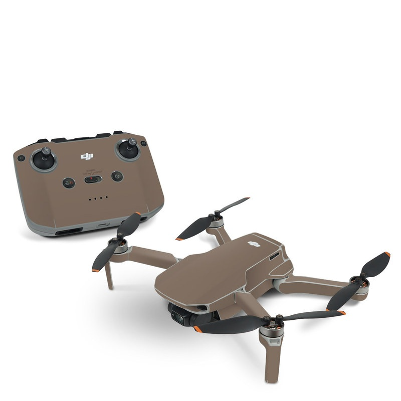 DJI Mavic Mini 2 Skin design of Brown, Text, Beige, Material property, Font with brown colors