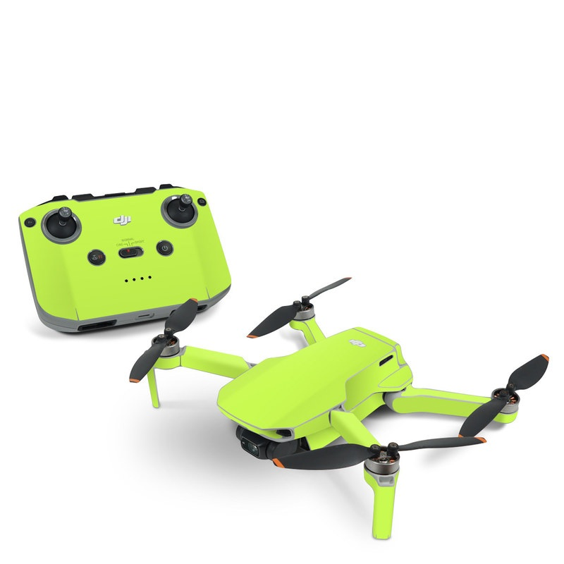 DJI Mavic Mini 2 Skin design of Green, Yellow, Text, Leaf, Font, Grass with green colors